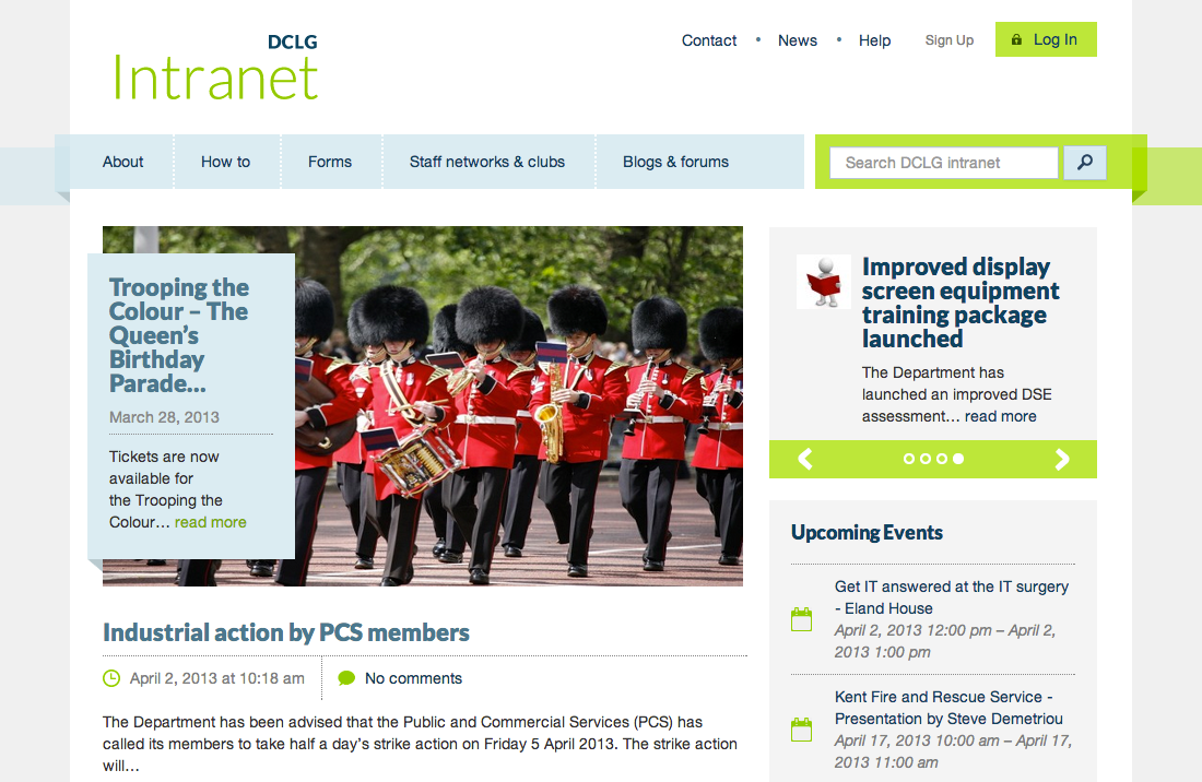 DCLG Intranet