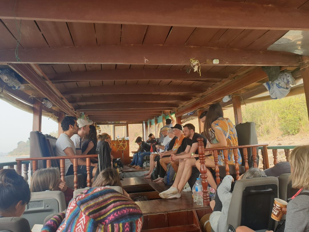 Travelling on the boat to Laos