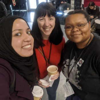Israt, Maria, and Olivia from dxw at the You Got This! conference