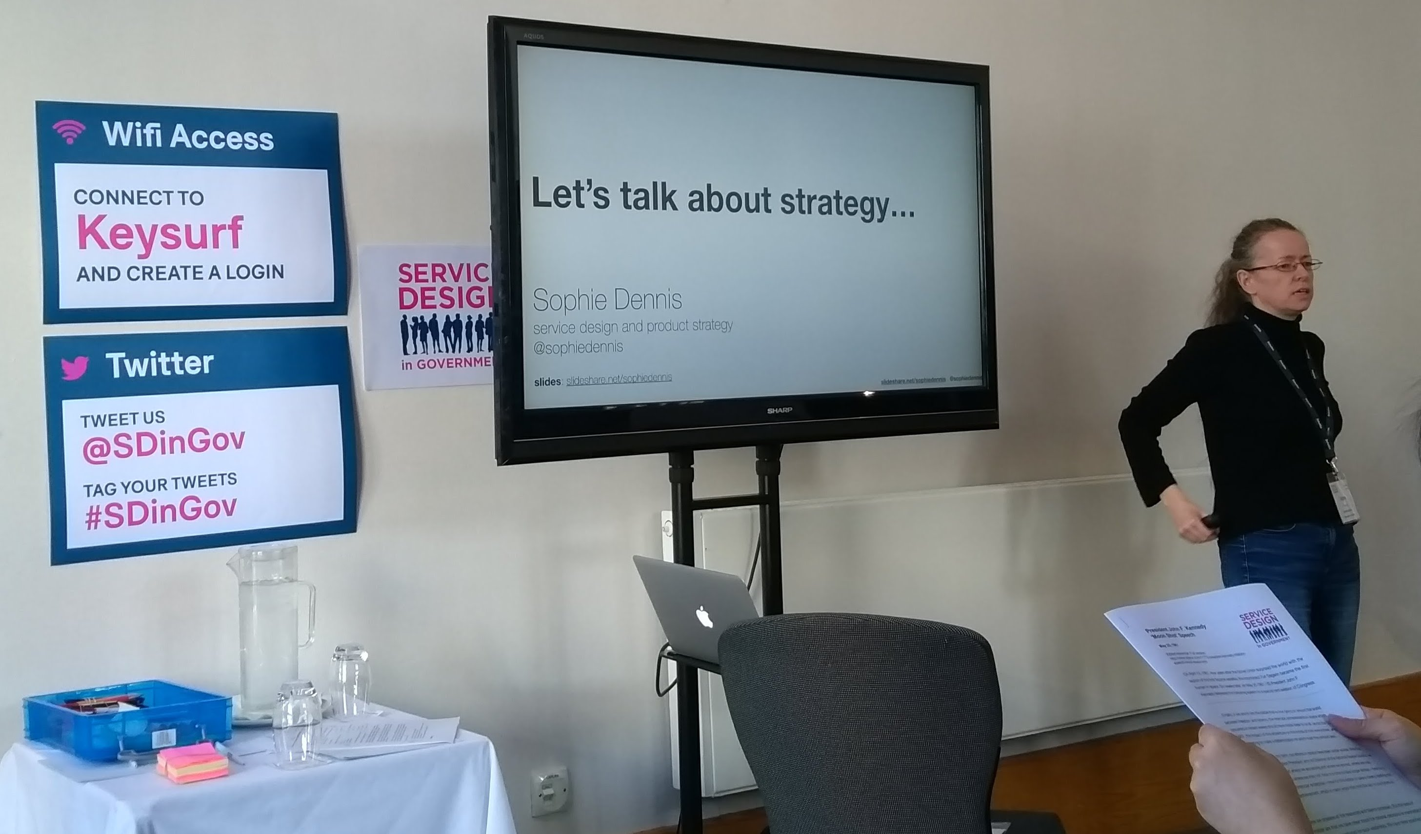 Sophie Dennis talking about strategy