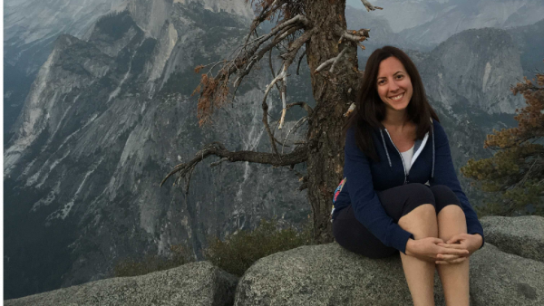 Maria on holiday in Yosemite