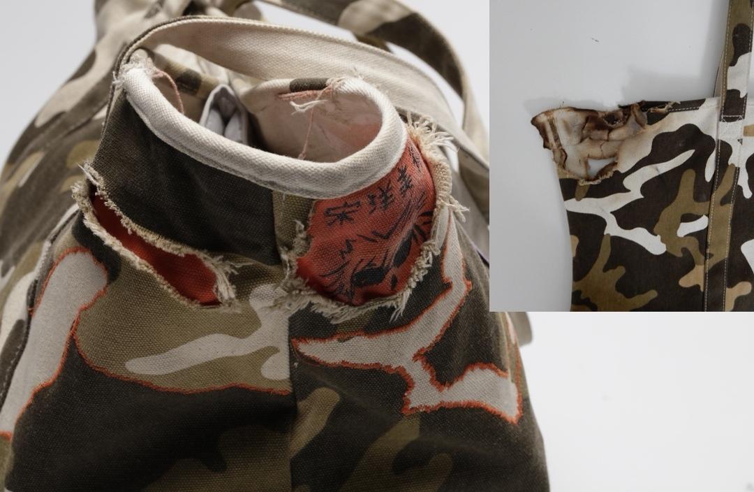 Imran's burnt bag