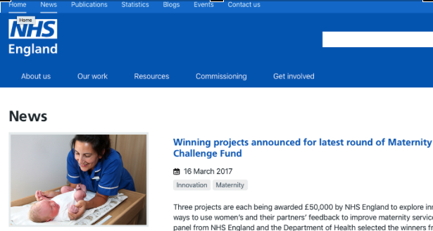 NHS England midwifery blog