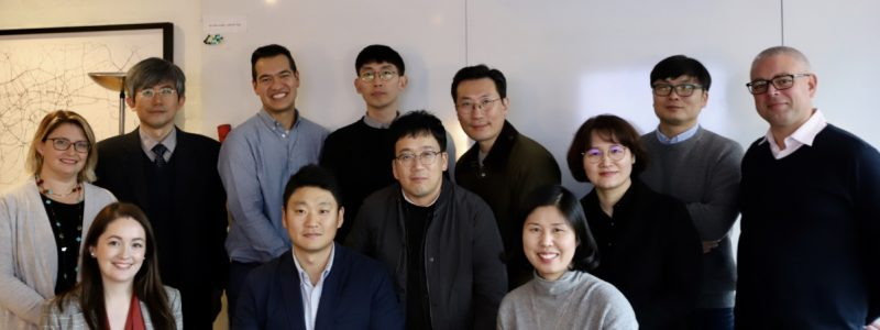 The South Korean delegation and dxw staff