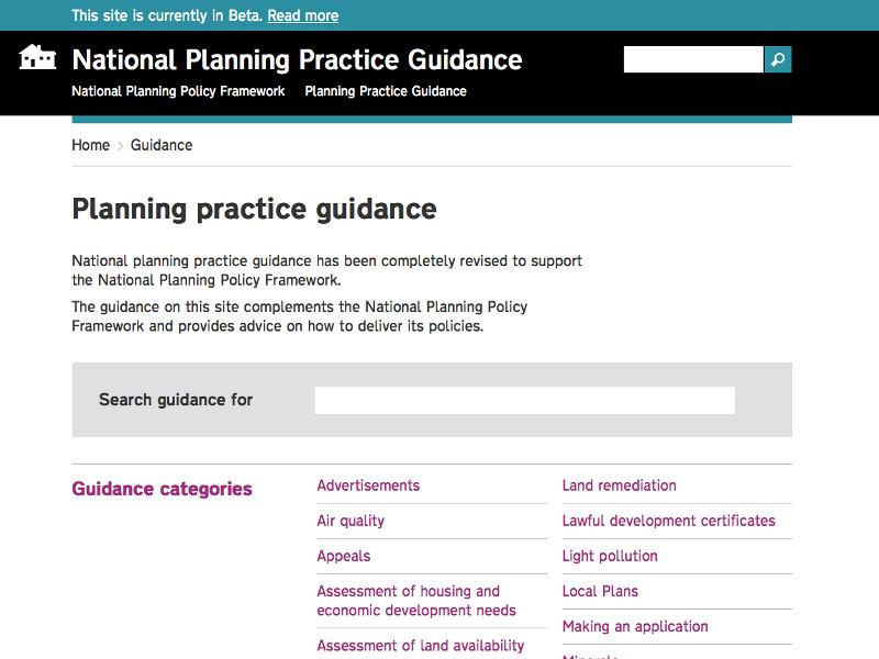 Planning Guidance