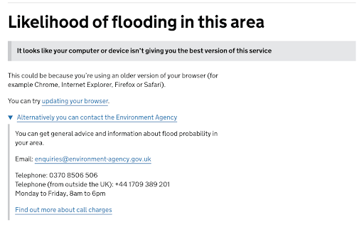 The Flood Services uses offline communication when JavaScript is disabled