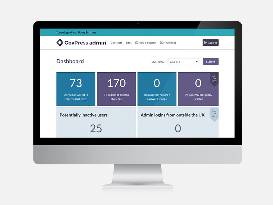 Screenshot of GovPress admin dashboard