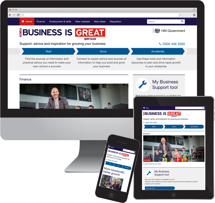 Responsive Great Business site