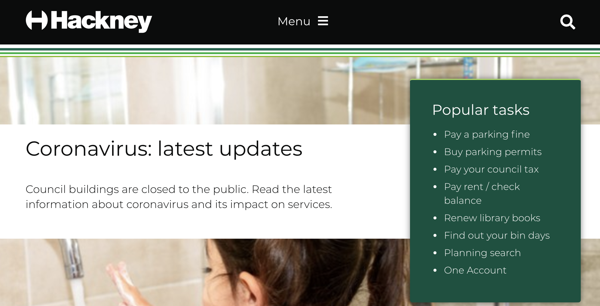 A screenshot of Montserrat on the Hackney website