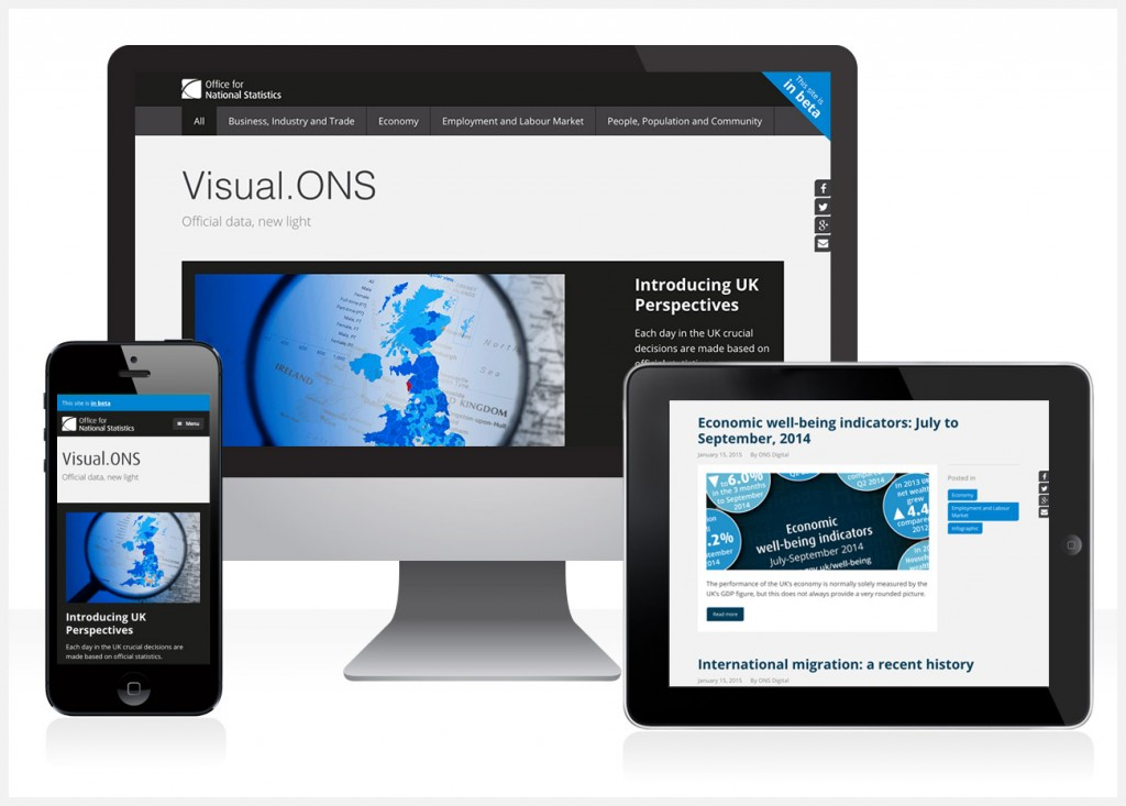 Responsive Visual.ONS site