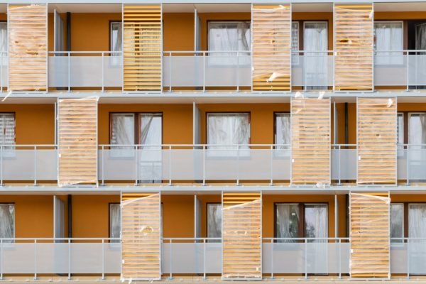 Image shows a block of flats