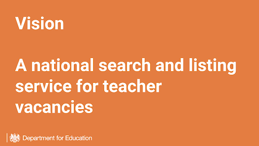 'Vision: a national search and listing service for teacher vacancies'